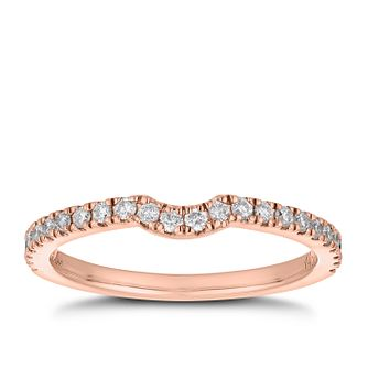 Neil Lane 14ct rose gold 0.25ct diamond shaped band - Product number 4046579