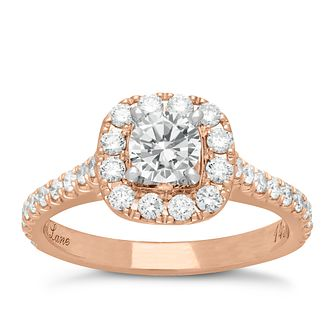 Neil Lane 14ct rose gold 1.16ct diamond cluster ring - Product number 4048032