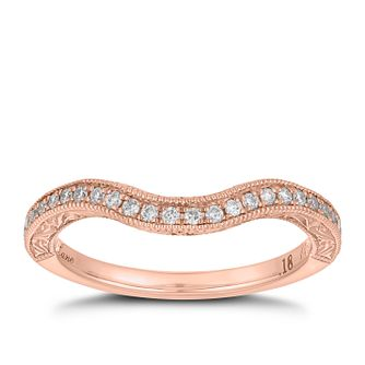 Neil Lane 14ct rose gold 0.18ct diamond shaped band - Product number 4048822