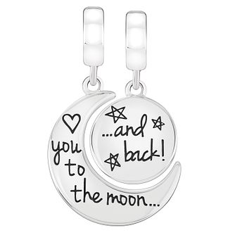 Chamilia Sterling Silver Moon and Back Charm Set - Product number 4052323