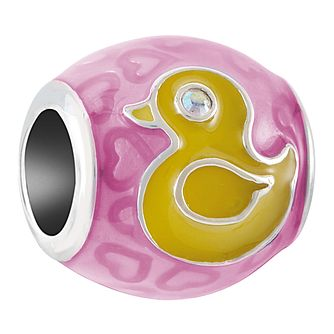Chamilia Sterling Silver Pink Rubber Ducky Charm - Product number 4053567
