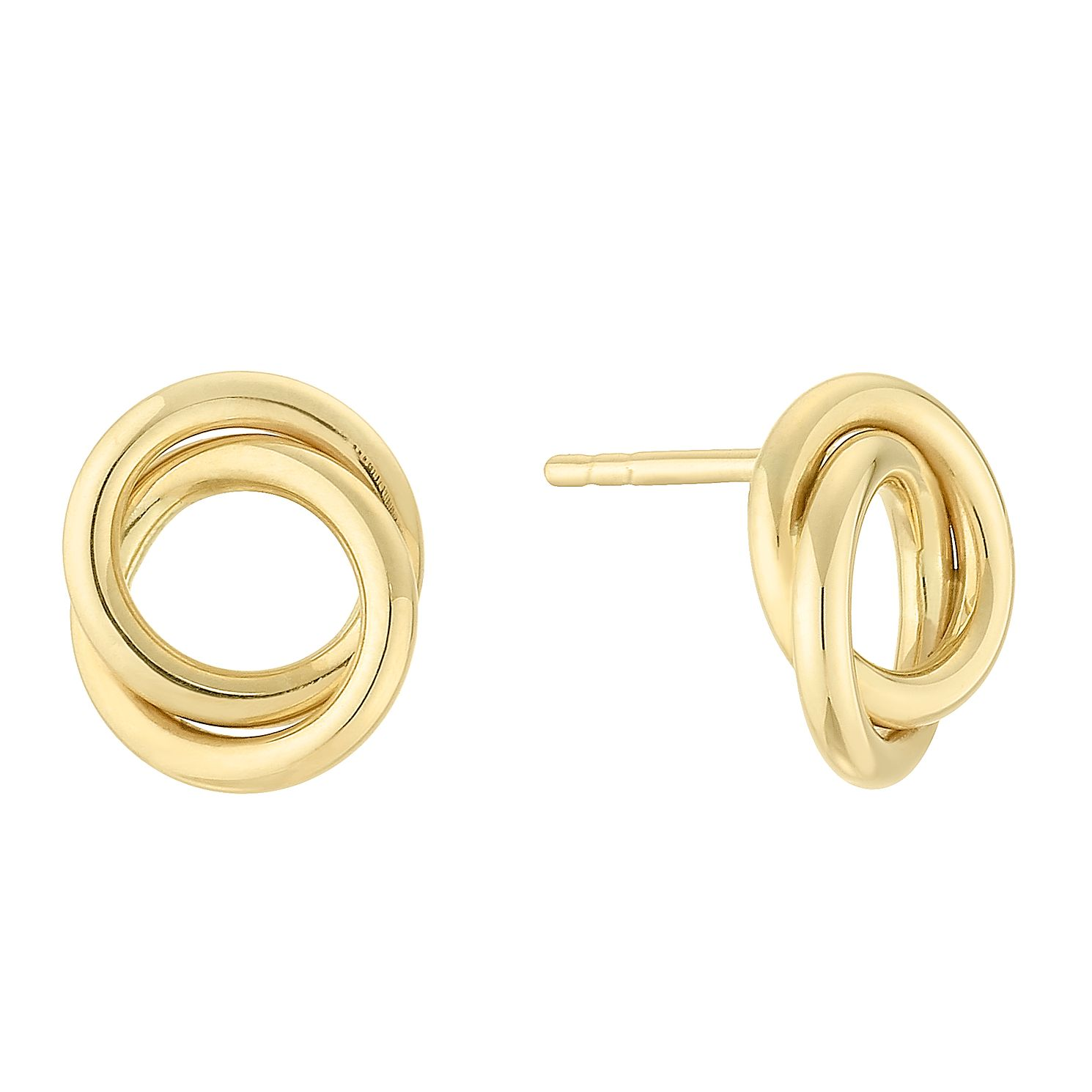 9ct Yellow Gold Open Knot Stud Earrings - Product number 4054482