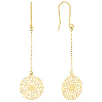 9ct Yellow Gold Bubble Dreamcatcher Drop Earrings - Product number 4054490