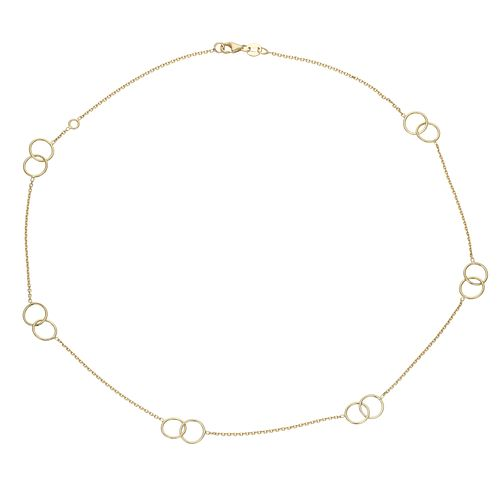 9ct Yellow Gold Circle Design Station Choker - Product number 4057201