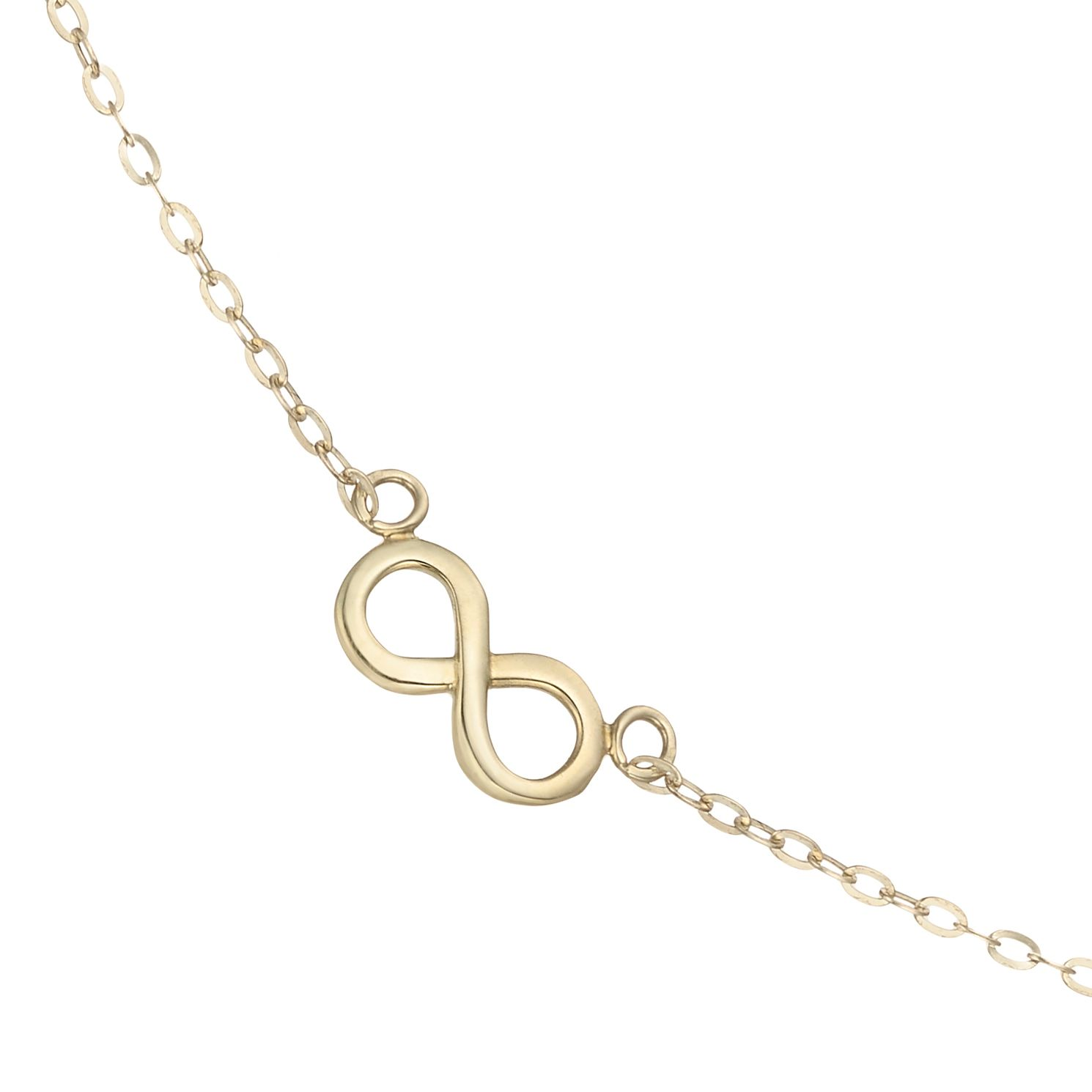 9ct Yellow Gold Infinity Symbol Design Choker - Product number 4057570