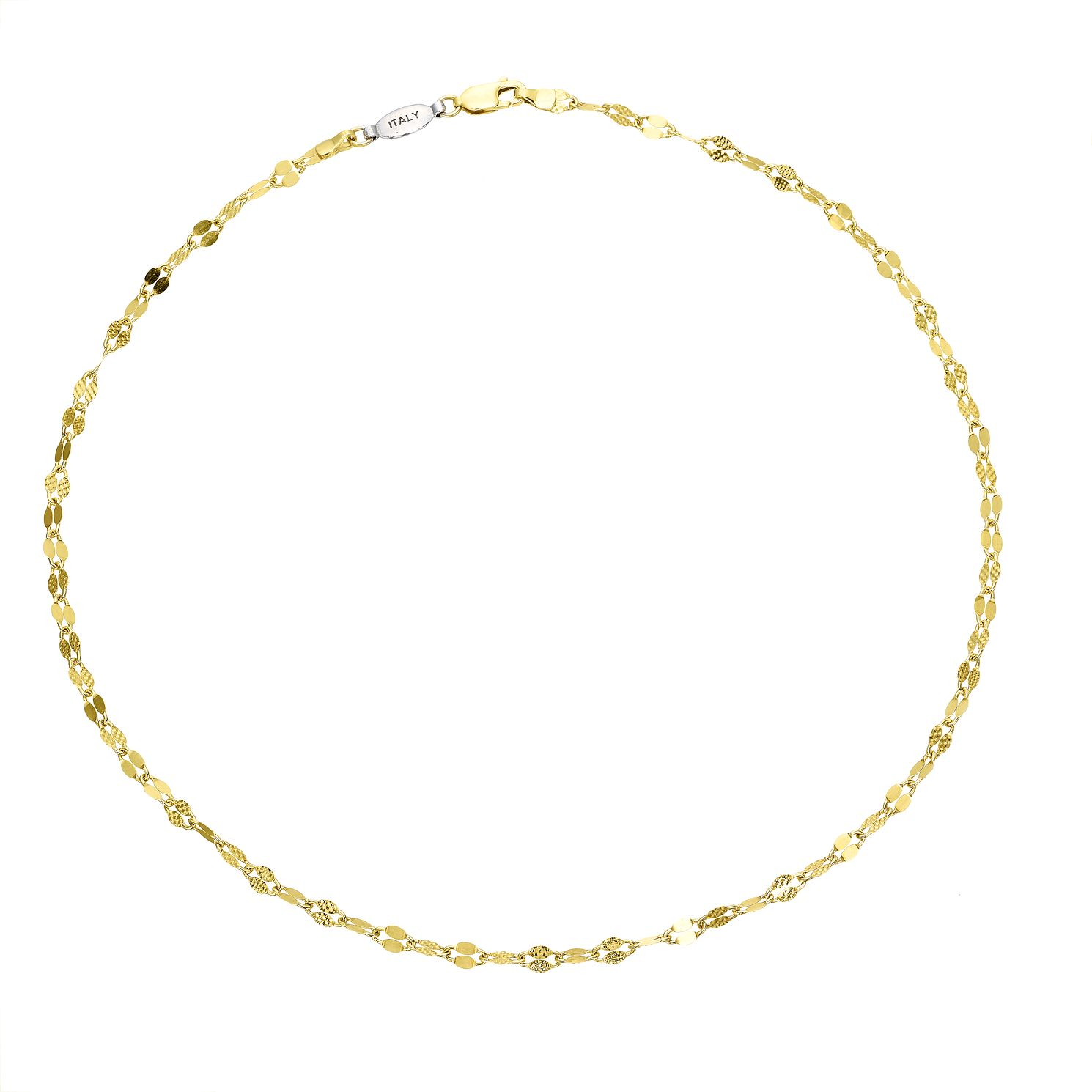 Sterling Silver & 9ct Yellow Gold Bonded Chain Choker - Product number 4057597