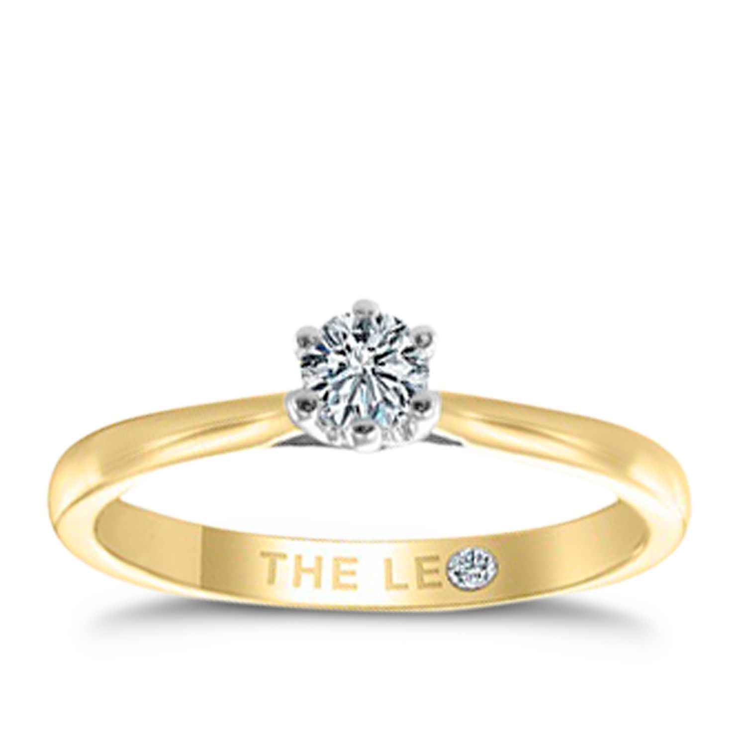 Leo Diamond 18ct Rose Gold 1/4ct I-I1 Solitaire Ring - Product number 4057686