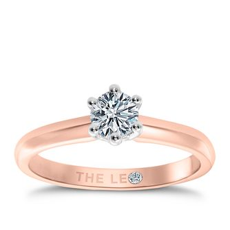 Leo Diamond 18ct rose gold 2/5ct I-I1 solitaire ring - Product number 4057937