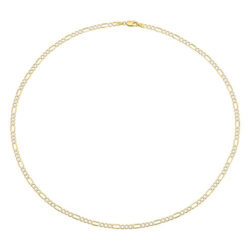Silver & 9ct Gold Bonded Two Tone Curb Chain Necklace - Product number 4058135