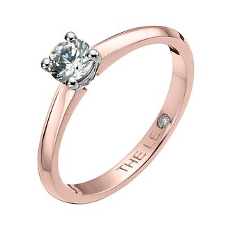 Leo Diamond 18ct rose gold 1/3ct I-I1 solitaire ring - Product number 4058550