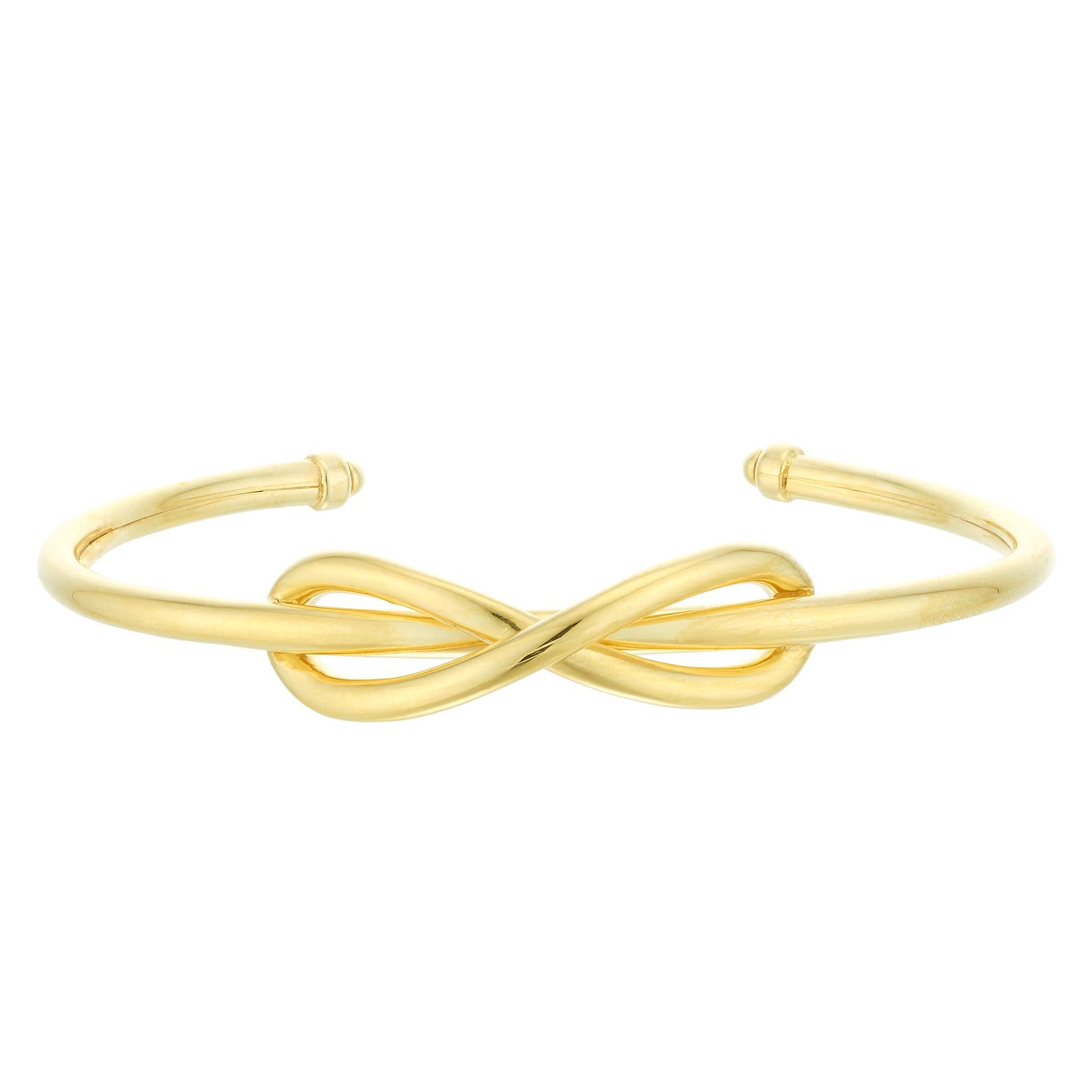 Silver & 9ct Yellow Gold Bonded Knot Bangle - Product number 4059085
