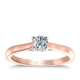 Leo Diamond 18ct rose gold 1/4ct I-SI2 solitaire ring - Product number 4059115