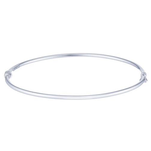 9ct White Gold Plain Skinny Bangle - Product number 4059263