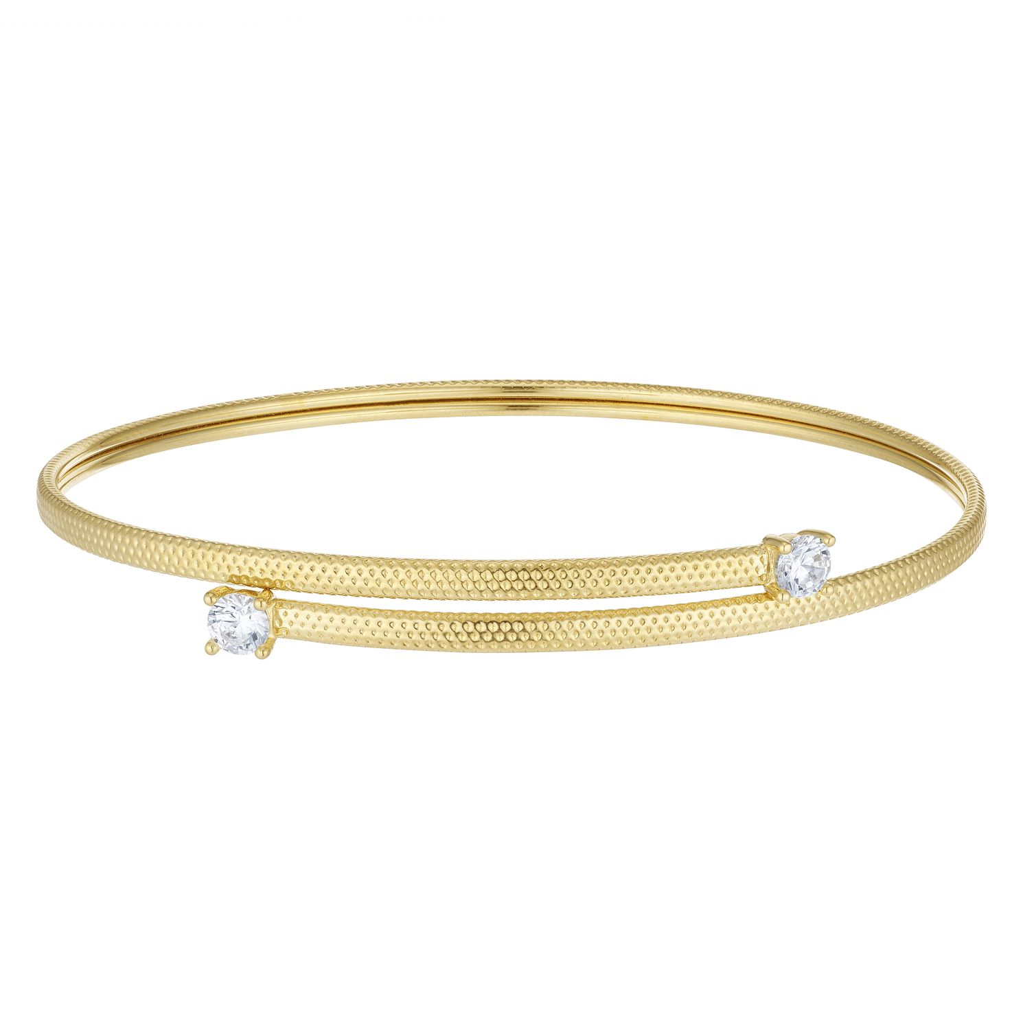 9ct Yellow Gold Cubic Zirconia Flexi Bangle - Product number 4059352