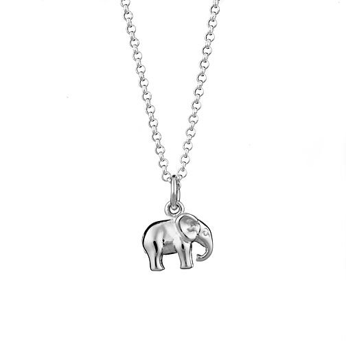 Lily Charmed Sterling Silver Elephant Pendant - Product number 4059441