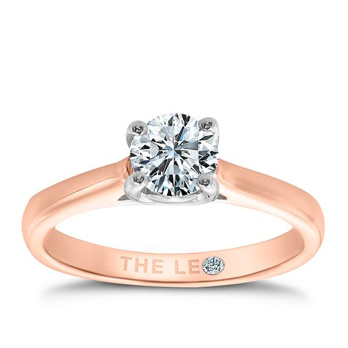 Leo Diamond 18ct rose gold 2/3ct I-SI2 solitaire ring - Product number 4059956