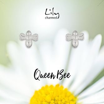 Lily Charmed Sterling Silver Queen Bee Stud Earrings - Product number 4059964
