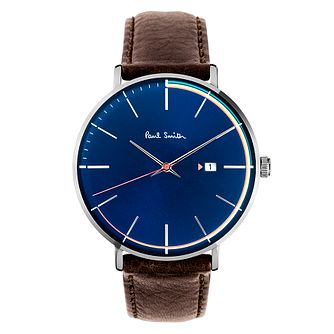 Paul Smith Track Men's Stainless Steel Blue Strap Watch - Product number 4060040