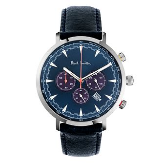 Paul Smith Track Men's Stainless Steel Blue Strap Watch - Product number 4060059
