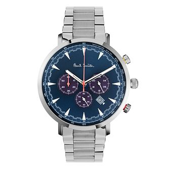 Paul Smith Track Men's Stainless Steel Blue Bracelet Watch - Product number 4060377