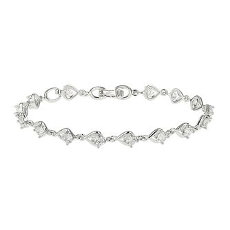Mikey Silver Tone Cubic Zirconia Tennis Bracelet - Product number 4060415