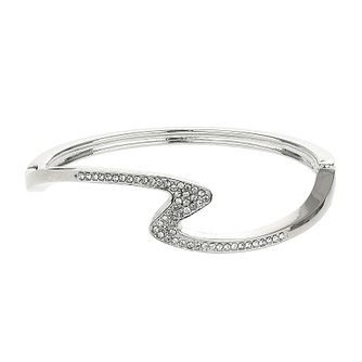 Mikey Silver Tone Cubic Zirconia Cuff Bracelet - Product number 4060997