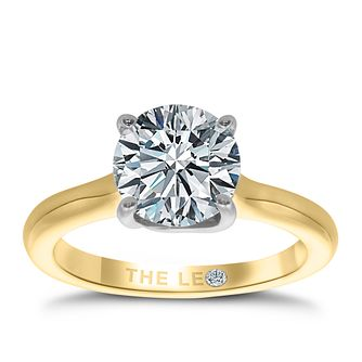 Leo Diamond 18ct Yellow Gold 2ct I-SI2 Solitaire Ring - Product number 4061772