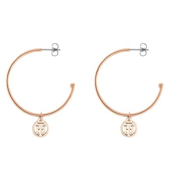 Tommy Hilfiger Rose Gold Hoop Earrings - Product number 4063139