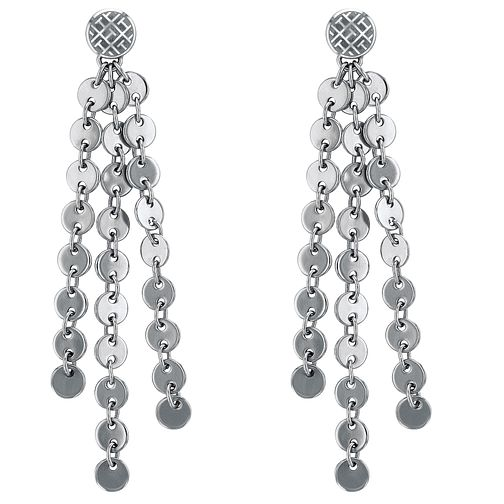 Tommy Hilfiger Silver Tone Glitz Design Drop Earrings - Product number 4063147