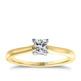 Leo Diamond gold 1/3ct I-SI2 princess cut ring - Product number 4063988