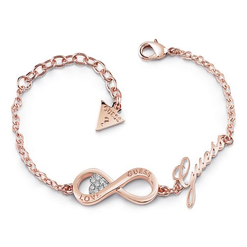 Guess Rose Gold Plated Rhodium Infinity & Heart Bracelet - Product number 4067487