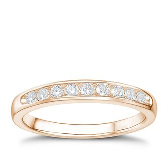 Tolkowsky 18ct rose gold 1/4ct HI-VS2 diamond ring - Product number 4068351