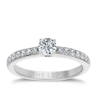 Leo Diamond platinum 1/2ct I-I1 diamond solitaire ring - Product number 4069900