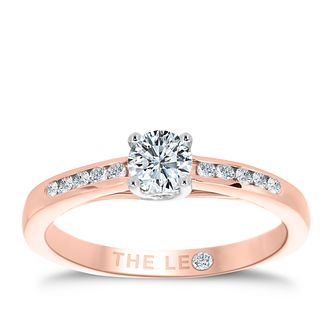 Leo Diamond 18ct Gold 2/5ct I-I1 Diamond Solitaire Ring - Product number 4070054