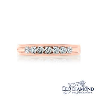 Leo Diamond 18ct rose gold 1/2ct I-SI2 diamond ring - Product number 4072383
