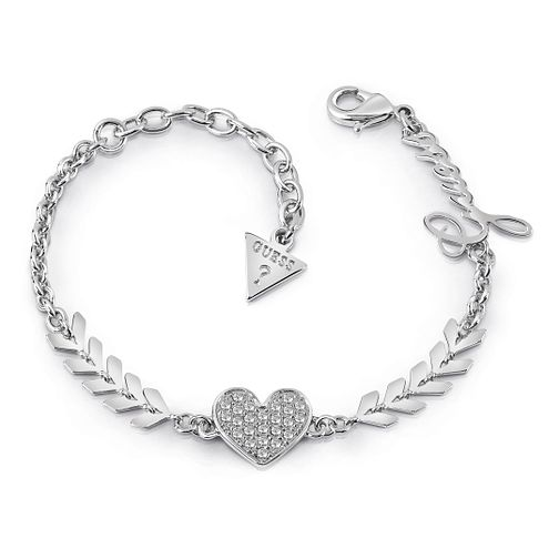 Guess Silver Plated Rhodium Multi Arrow & Heart Bracelet - Product number 4075153