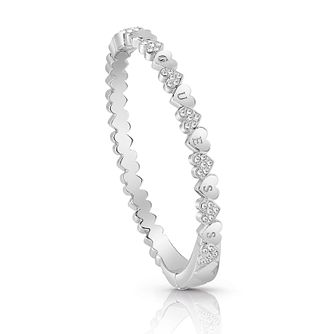 Guess Silver Plated Rhodium Small Heart Bangle - Product number 4075358