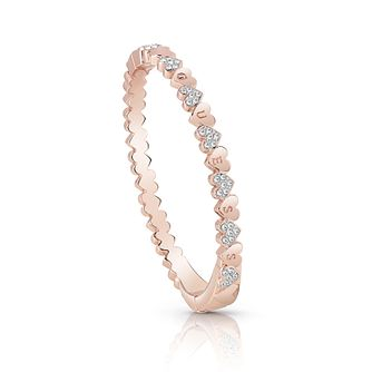 Guess Rose Gold Plated Rhodium Small Heart Bangle - Product number 4075374
