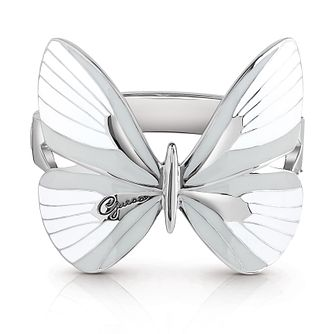 Guess Silver Plated Rhodium White Butterfly Bangle - Product number 4075501