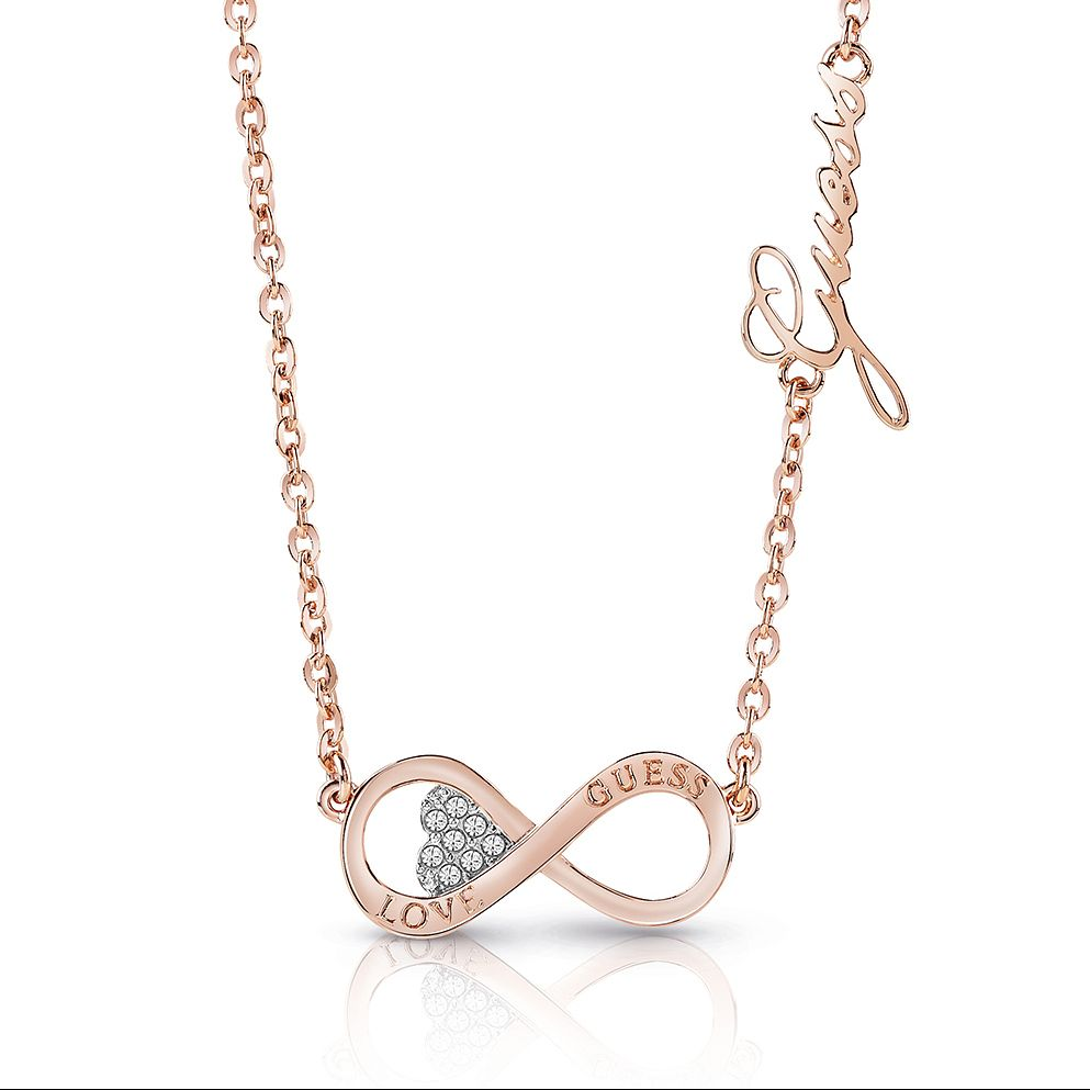 Guess Rose Gold Plated Rhodium Inifinity Necklace - Product number 4075846