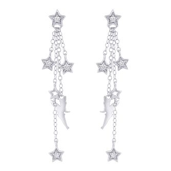 Enchanted Disney Fine Jewelry Diamond Tinkerbell Earrings - Product number 4076168