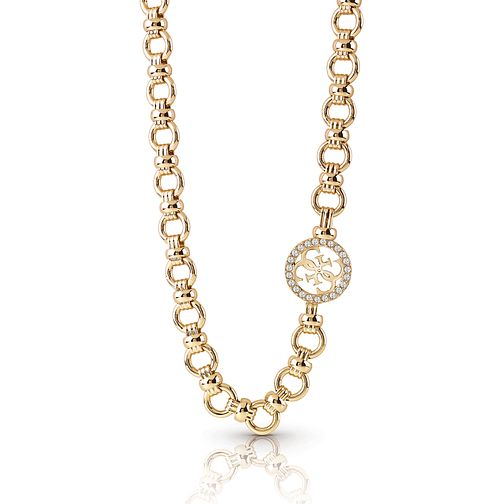 Guess Gold Plated Rhodium Pave Chain Necklace - Product number 4076397