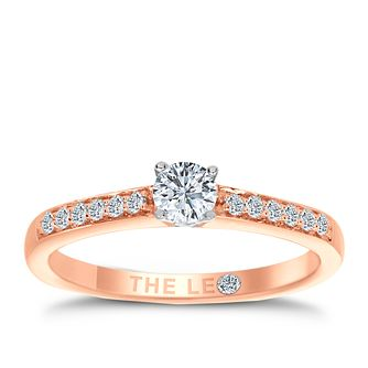 Leo Diamond 18ct rose gold 1/3ct I-I1 diamond solitaire ring - Product number 4077083