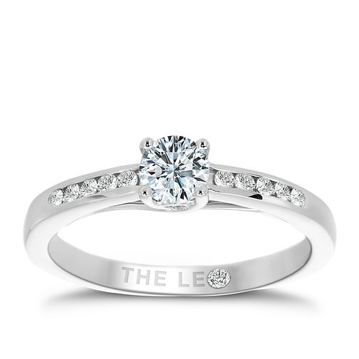 Leo Diamond platinum 2/5ct I-I1 diamond solitaire ring - Product number 4077628