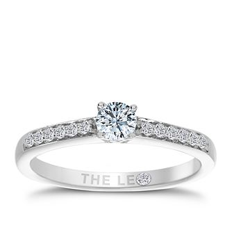 Leo Diamond platinum 1/3ct I-I1 diamond solitaire ring - Product number 4077741