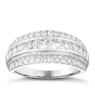 18ct White Gold 1ct Round Diamond Band - Product number 4079809