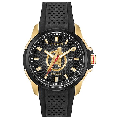 Citizen Marvel Avengers Black Rubber Strap Watch - Product number 4089464