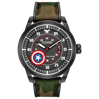 Citizen Marvel Captain America Leather Strap Watch - Product number 4089480