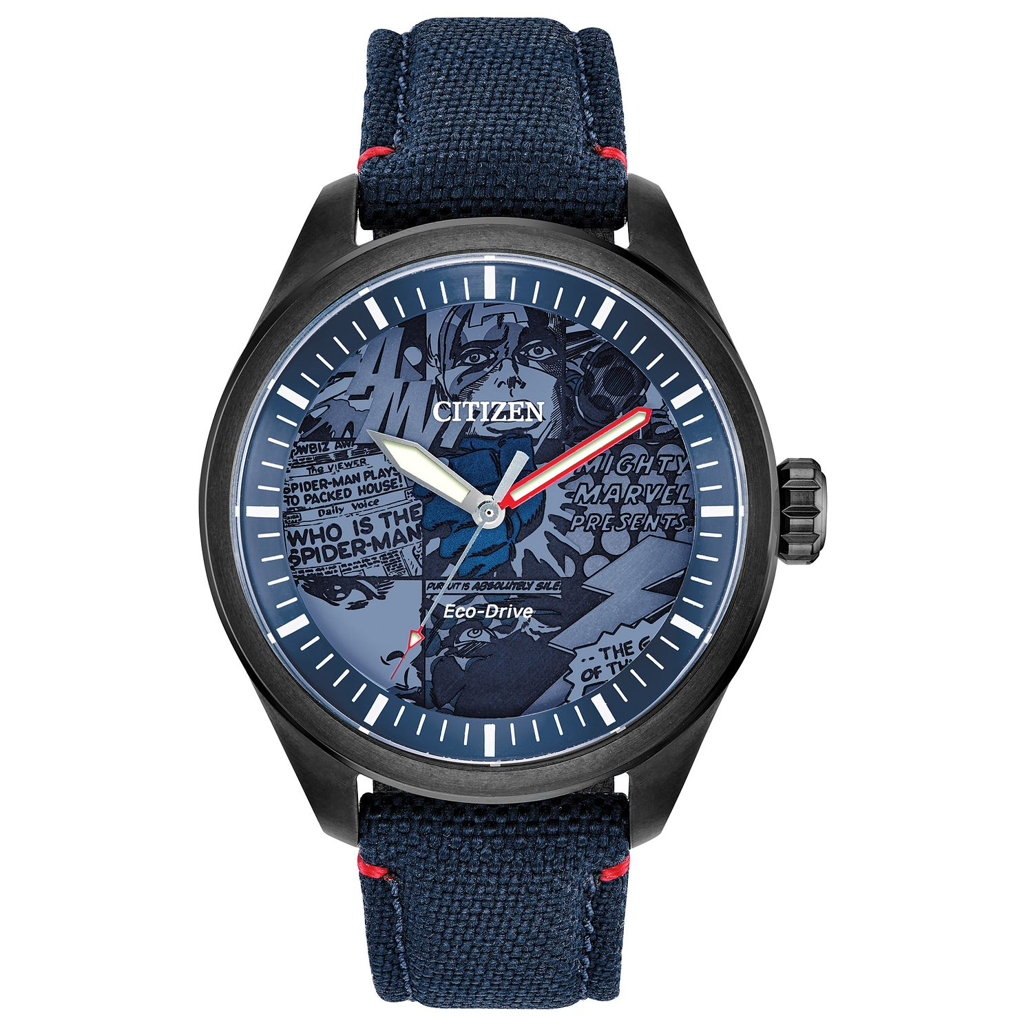 Citizen Marvel Heroes Blue Fabric Strap Watch - Product number 4089502