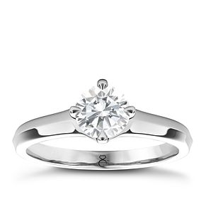 The Diamond Story 18ct White Gold 3/4ct diamond solitaire - Product number 4089871